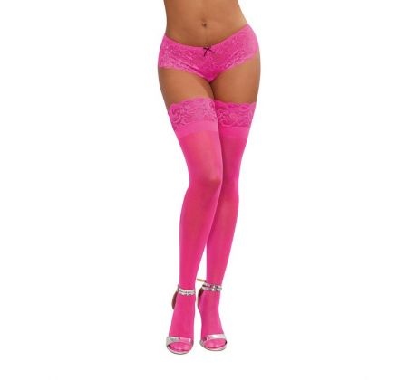 Stay up sheer neon pink DG0005N-0PI by Dreamgirl