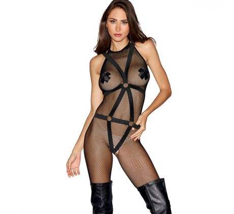 Fetish bodystocking DG0291-0BK by Dreamgirl