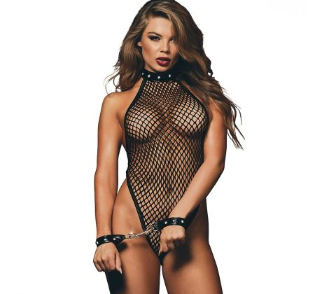Body en filet DG10575-0BK by Dreamgirl