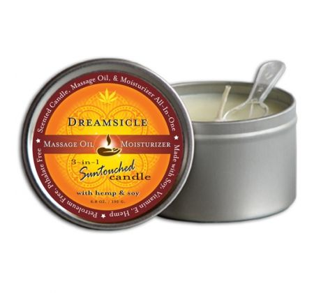 Round Candles Dreamsicle 6.8oz 12-1001 by Earthly Body