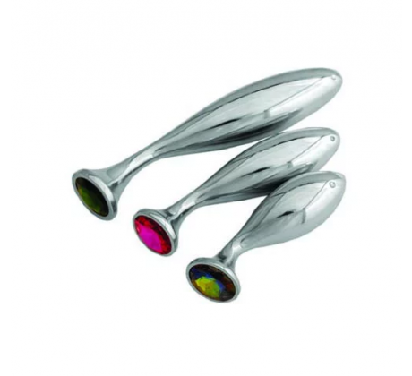 Stainless Steel Butt Plug Small Purple EBP-104-SM-PR by Ego Driven