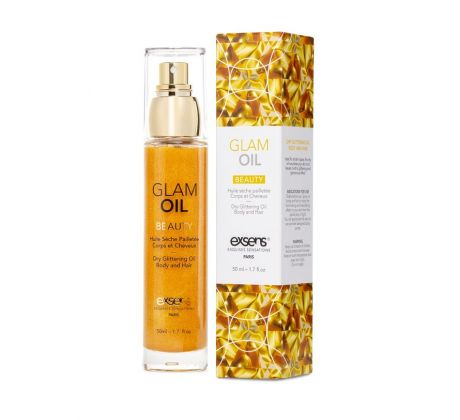 Dry glittering oil body and hair  GLAOIL by Exsens