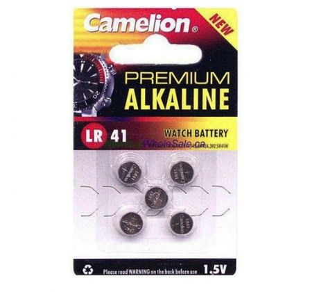 Battery Alkaline AG3-5 - LR41 OVO 0399-13 by Camelion