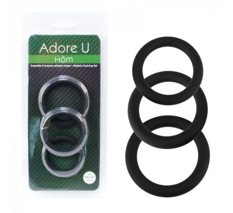 Cockring in black C-rings  LA0299-11 by Adore U