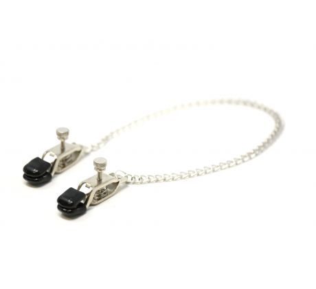 Nipple clamps with chain ENT-117 by Ego Driven