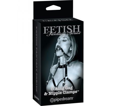 FFLE O-Ring gag & Nipple clamps PD4419-23 by Pipedream